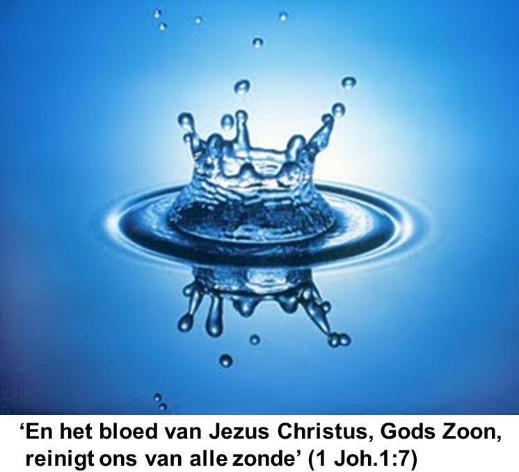 Het bloed van Jezus Christus de Zoon van God reinigt ons van alle zonde