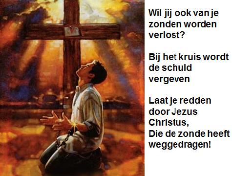 Onze schuldbrief moet aan het kruis worden genageld. Zie Kolossenzen 2:13-14
