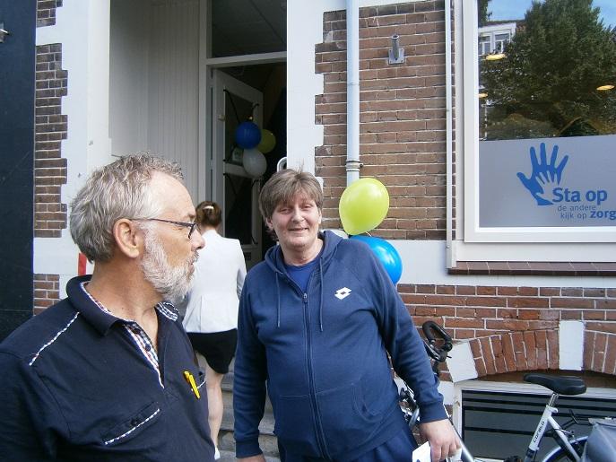 Tonnie en Willem bij de opening van het nieuwe kantoor van Sta Op Zorg