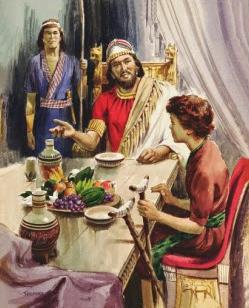 Mefiboseth aan de tafel bij David