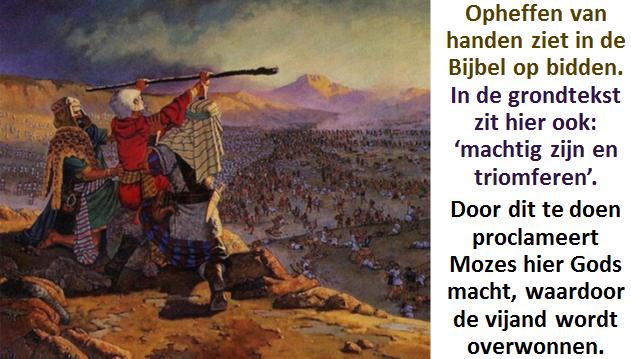 Opheffen van de handen van Mozes