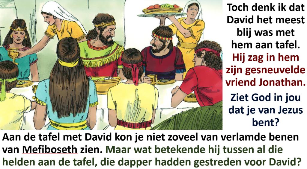 Aan tafel bij David